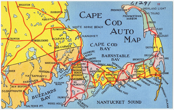 map boston to cape cod Cape Cod Auto Map Bostonography map boston to cape cod