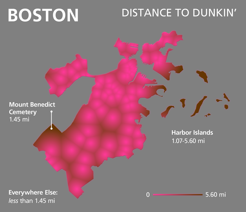 Whoops: Dunkin's are Closer | Bostonography on fazoli's locations map, starbucks locations map, pilot travel center locations map, applebee's locations map, tim hortons locations map, taco john's locations map, o'charley's locations map, jiffy lube locations map, 7-eleven locations map, chick-fil-a locations map, publix locations map, checkers and rally's locations map, macaroni grill locations map, jersey mike's locations map, jimmy john's locations map, au bon pain locations map, outback steakhouse locations map, microsoft locations map, bonefish grill locations map, baskin-robbins locations map,