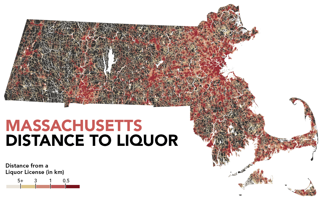 Population Density By Zip Code Map.Booze Bostonography