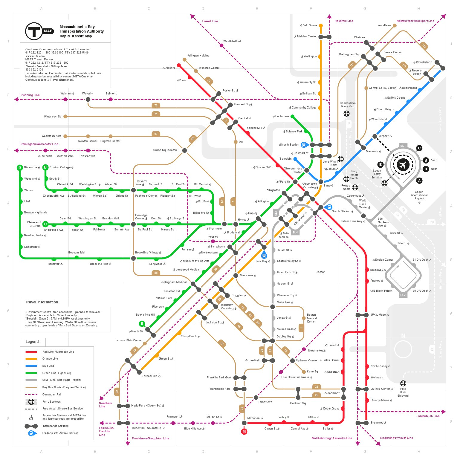 Boston Bus Map MBTA map redesigns | Bostonography