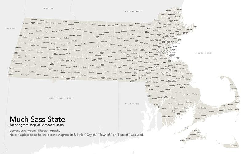 Massachusetts Anagram Map