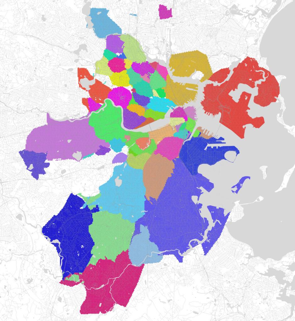 Boston neighborhoods categorized