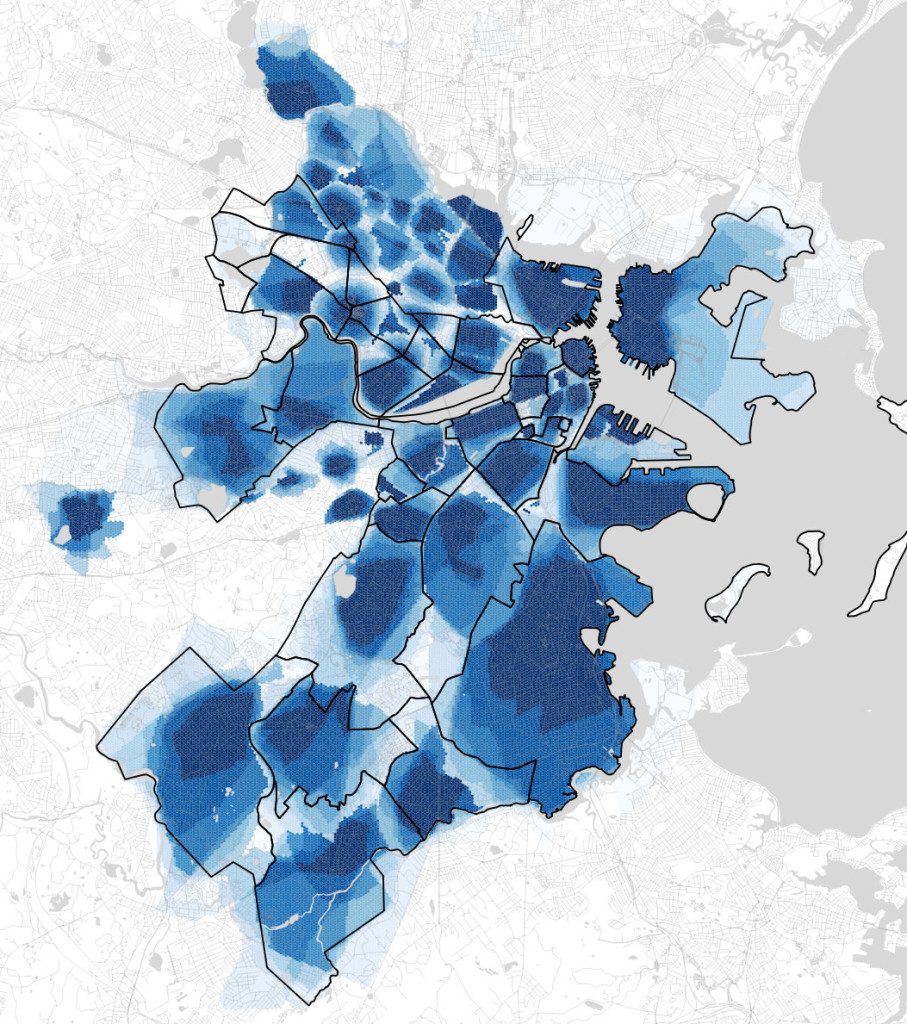 Boston crowdsourced vs official neighborhoods