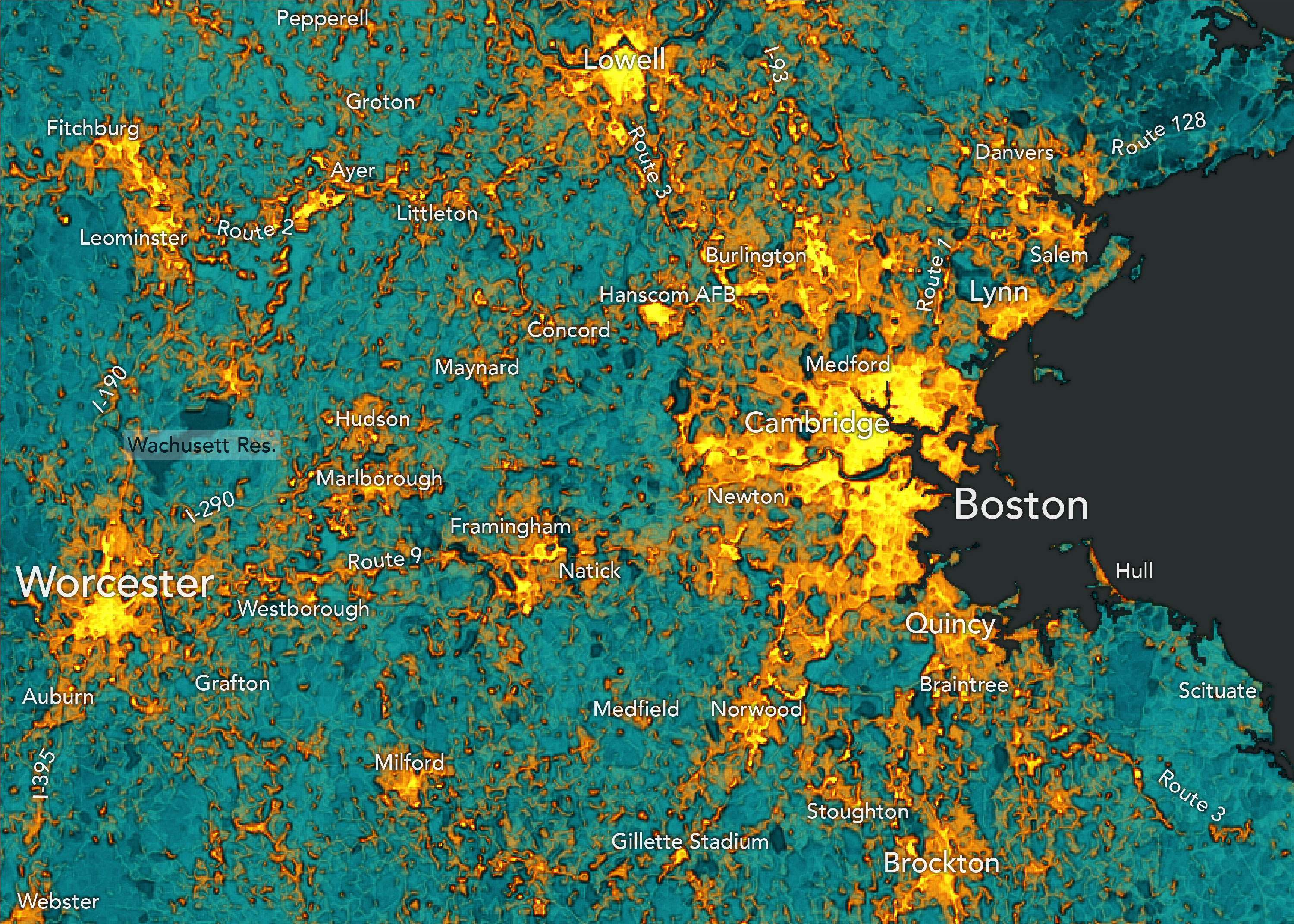 Bostonography Satellite Map Of Boston Neighborhoods on satellite view of a vietnam, aerial view of neighborhoods, atlanta neighborhoods, map of seattle neighborhoods, satellite view of address zoom, satellite view of neighborhood,